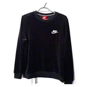 Nike velour crewneck sweatshirt